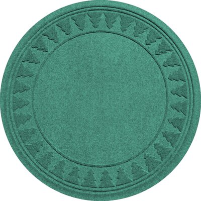 Aqua Shield Tree Skirt Doormat Color: Aquamarine