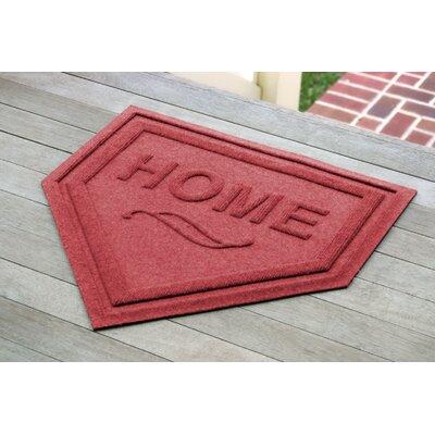 Aqua Shield Home Plate Doormat Color: Solid Red