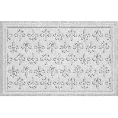 Conway Fleur Field Doormat Color: White