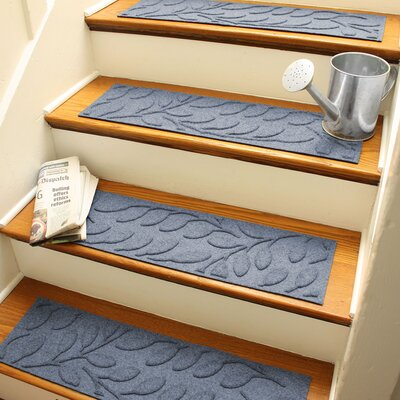 Aqua Shield Bluestone Brittany Leaf Stair Tread