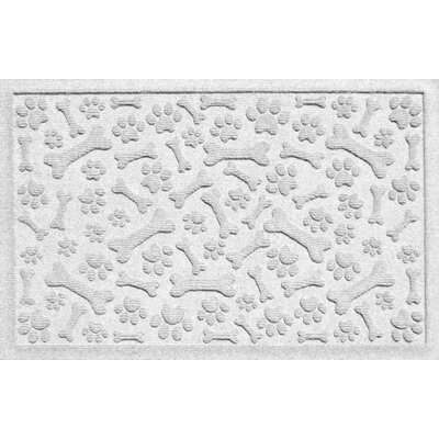 Aqua Shield Paw and Bones Doormat Color: White