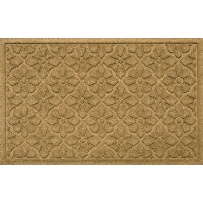 Aqua Shield Medallion Doormat Color: Gold
