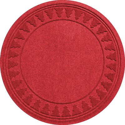 Aqua Shield Tree Skirt Doormat Color: Solid Red