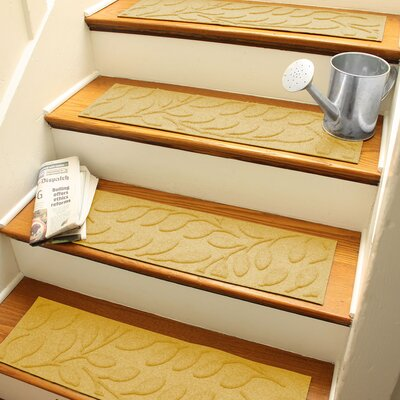 Aqua Shield Yellow Brittany Leaf Stair Tread