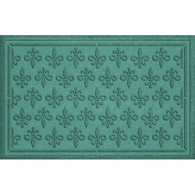 Conway Fleur Field Doormat Color: Aquamarine