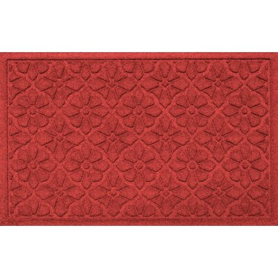 Aqua Shield Medallion Doormat Color: Solid Red