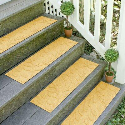 Aqua Shield Yellow Brittany Leaf Stair Tread