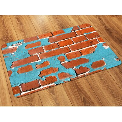 Fo Flor Painted Brick Doormat Rug Size: Rectangle 21 x 5