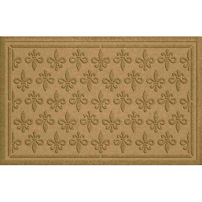 Aqua Shield Fleur Field Doormat Color: Gold