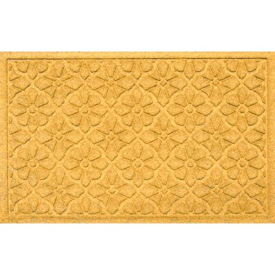 Aqua Shield Medallion Doormat Color: Yellow