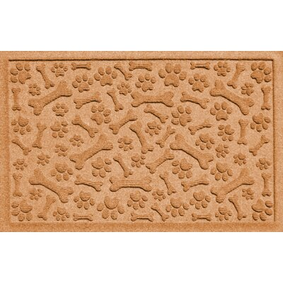 Aqua Shield Paw and Bones Doormat Color: Gold
