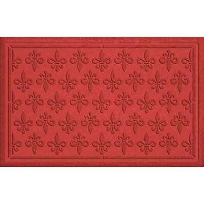 Conway Fleur Field Doormat Color: Solid Red