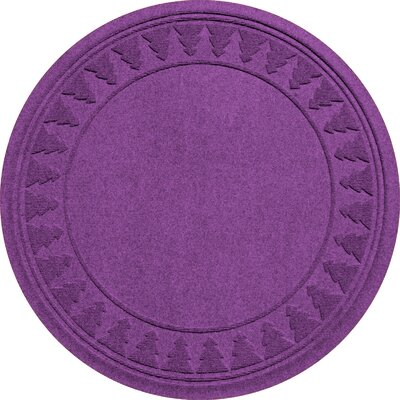 Aqua Shield Tree Skirt Doormat Color: Purple