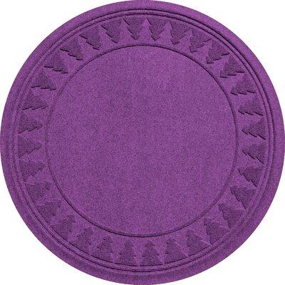 Aqua Shield Tree Skirt Doormat Color: Purple
