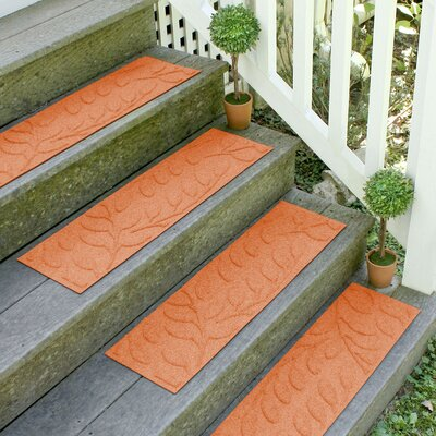Aqua Shield Orange Brittany Leaf Stair Tread