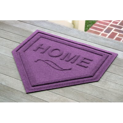 Engelmann Home Plate Doormat Color: Purple
