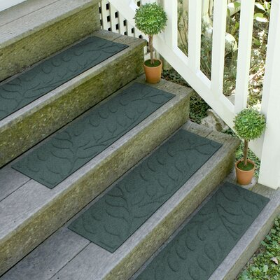 Aqua Shield Evergreen Brittany Leaf Stair Tread