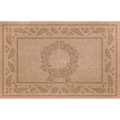 Conway Wreath Doormat Color: Medium Brown