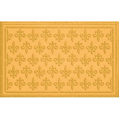 Aqua Shield Fleur Field Doormat Color: Yellow