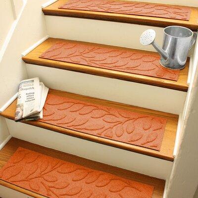 Aqua Shield Orange Brittany Leaf Stair Tread