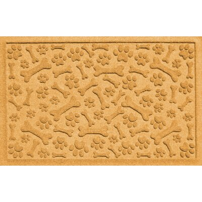 Conway Paw and Bones Doormat Color: Yellow