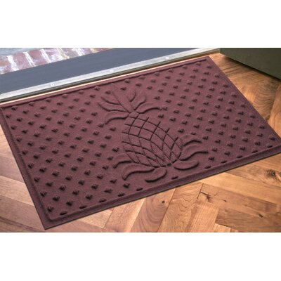 Anitra Diamond Pineapple Doormat Color: Bordeaux