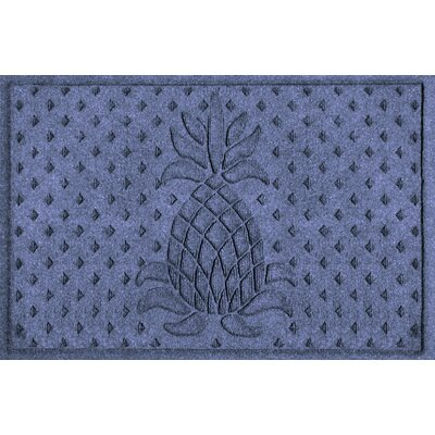 Aqua Shield Diamond Pineapple Doormat Color: Navy