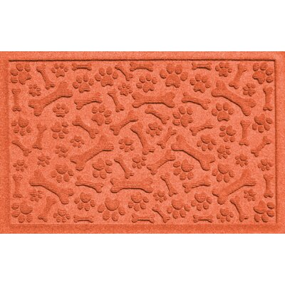 Aqua Shield Paw and Bones Doormat Color: Orange