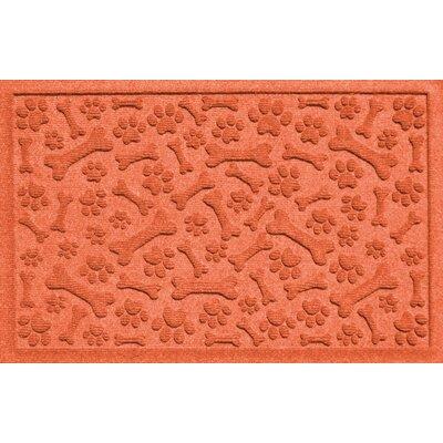 Conway Paw and Bones Doormat Color: Orange