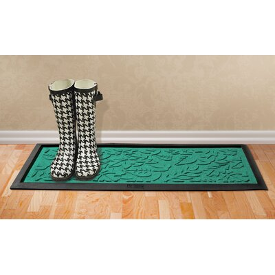 Conway Fall Day Boot Tray Color: Aquamarine