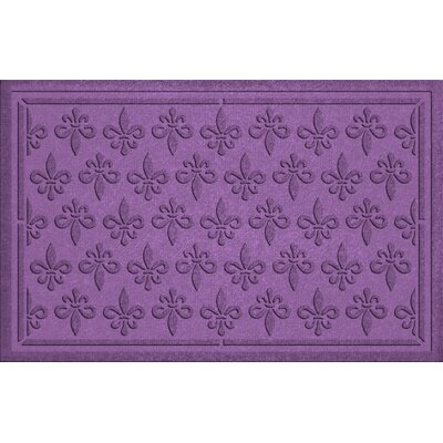 Aqua Shield Fleur Field Doormat Color: Purple