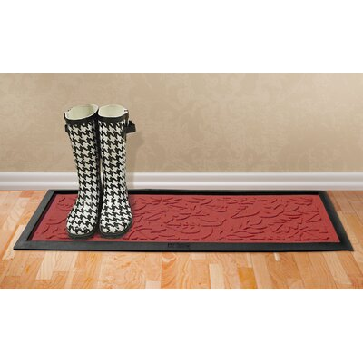 Conway Fall Day Boot Tray Color: Solid Red