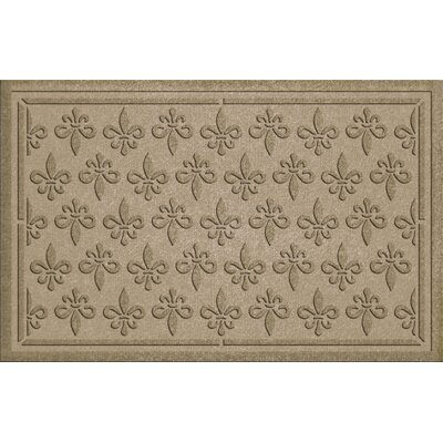 Aqua Shield Fleur Field Doormat Color: Camel