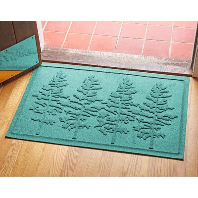 Aqua Shield Fir Forest Doormat Color: Aquamarine