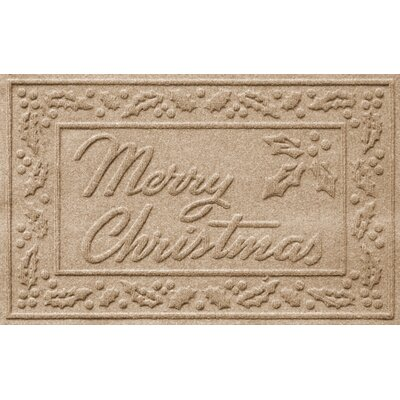 Aqua Shield Merry Christmas Doormat Color: Camel