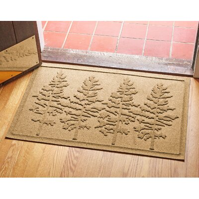 Aqua Shield Fir Forest Doormat Color: Gold