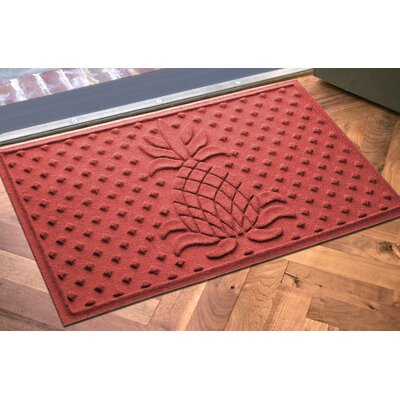 Anitra Diamond Pineapple Doormat Color: Solid Red