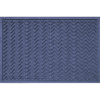 Aqua Shield Chevron Doormat Rug Size: 2' x 3', Color: Navy
