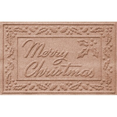 Aqua Shield Merry Christmas Doormat Color: Medium Brown