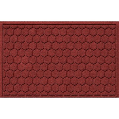 Finnerty Honeycomb Doormat Color: Red