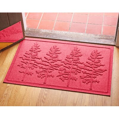 Conway Fir Forest Doormat Color: Solid Red