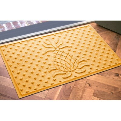Anitra Diamond Pineapple Doormat Color: Yellow