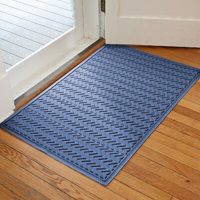 Harding Chevron Doormat Rug Size: 2 x 3, Color: Navy