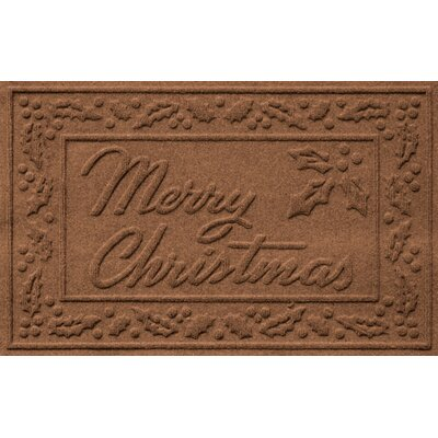 Aqua Shield Merry Christmas Doormat Color: Dark Brown
