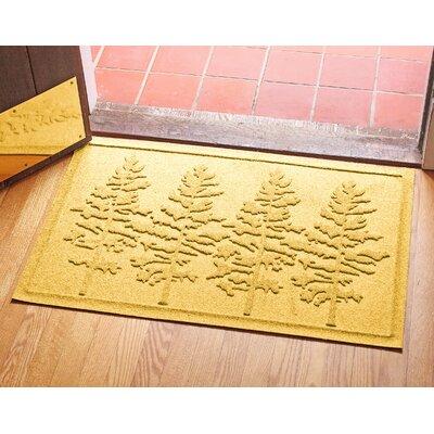 Aqua Shield Fir Forest Doormat Color: Yellow