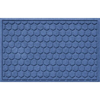 Finnerty Honeycomb Doormat Color: Medium Blue