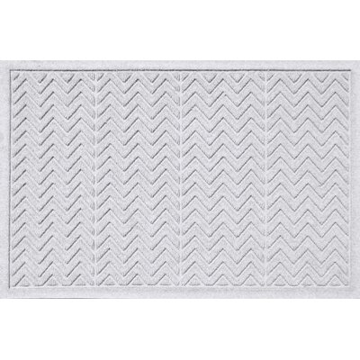 Aqua Shield Chevron Doormat Rug Size: 2' x 3', Color: White