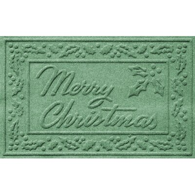 Aqua Shield Merry Christmas Doormat Color: Light Green