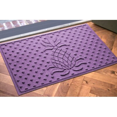 Anitra Diamond Pineapple Doormat Color: Purple