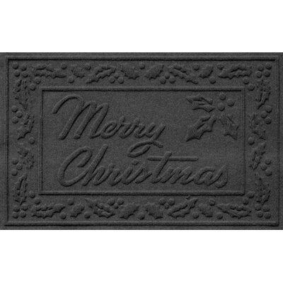 Aqua Shield Merry Christmas Doormat Color: Charcoal
